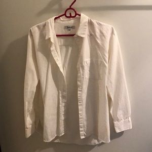 Madewell cotton button up shirt